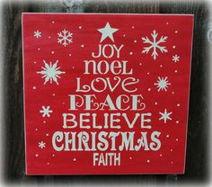 Christmas wood sign by simplycutecreations on Etsy