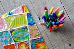 Zentangle Art: Easy Aluminum Foil Kids Project kid art projects, craft, kid projects