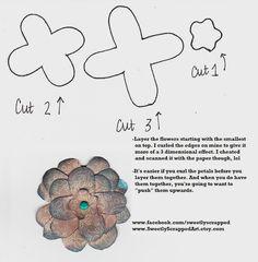 free templat, paper, craft idea, sweet scrap, flower templat, prints, flowers, diy flower, free flower
