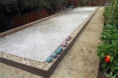 I want to make backyard bocce court