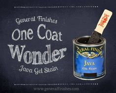 General Finishes Java Gel Stain Available @ Saved By Grace Antiques Bossier City, Louisiana