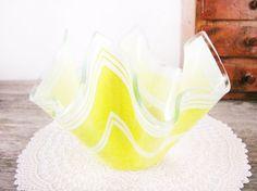 Vintage Yellow Chance Glass Handkerchief Vase  4 by WINDSEEDstudio, $22.00