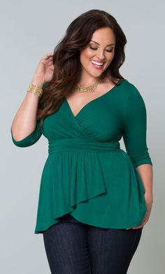 Check out the deal on Haven Faux Wrap Top at Kiyonna Clothing