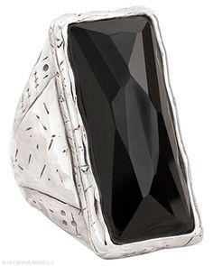 Black Tie Ring, Rings - Silpada Designs