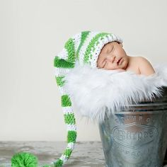 Christmas Holiday Elf Hat Crochet