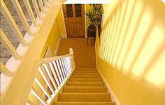 Yellow hallway