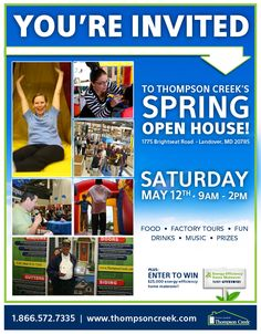 Mark your calendar for the 2012 Spring Open House! Factory tours, special celebrity guest, face painting, moon bounce, balloon animals, cornhole, awesome adult prizes and much much more!