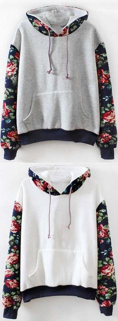 "Warm up with $33.99 Only! Free shipping&easy return! This floral sweatshirt is detailed with printed hoodie&front pocket! So cozy&chic at <a href=""http://Cupshe.com"" rel=""nofollow"" target=""_blank"">Cupshe.com</a>"