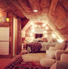 Attic Bedroom guest room, attic bedrooms, attic spaces, cozy bedroom, attic rooms, perfect room, sleepover room, rustic cabins, dream rooms