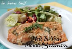 Melt in your Mouth Salmon- cooked in the broiler! Simple and delicious! SixSistersStuff.com