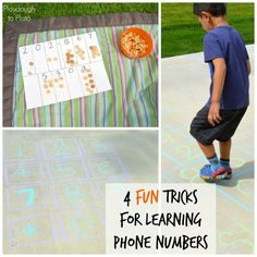 4 Super Fun Tricks for Learning Phone Numbers. {Playdough to Plato}