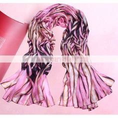 fashion soft pink feather pattern real silk scarf