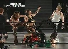 Ayumi Kurihara, Mio Shirai, Io Shirai and Makoto taking on Mima Shimoda, Kyoko Kimura, Atsuko Emoto and Tomoka Nakagawa