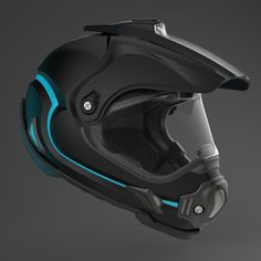 Motocross Helmet by Moran Goldstein, via Behance