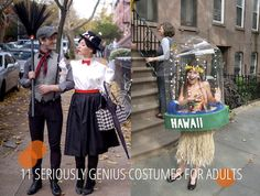 11 Seriously Genius Costumes For Adults - love the black and white silent film costumes!