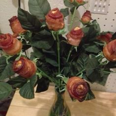 Bacon Roses. Pic sent by my hubby, I don't eat bacon