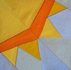 Sun paper piecing quilt block - via @Craftsy - FREE