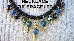 SAFETY PIN BRACELET OR NECKLACE, diy, jewelry making, easy, quick, costume jewelry, via YouTube.