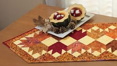 Autumn Leaves Table Runner Kit from ConnectingThreads.com