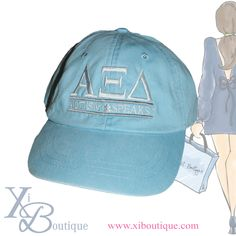Just added to the boutique!! Alpha Xi Delta & Autism Speaks light blue color washed hat!! Perfect for your next AS event!! Only at Xi Boutique!