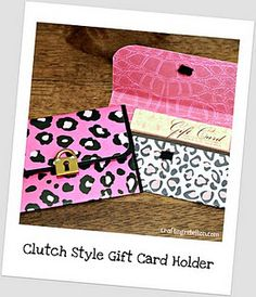 DIY Gift card holder tutorial...cute!