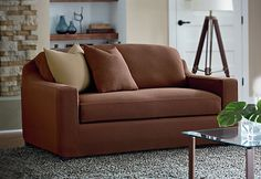 Stretch Cavalry Twill Separate Seat Slipcovers