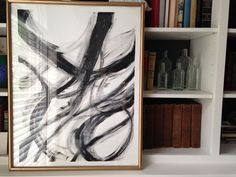 DIY: simple black & white abstract