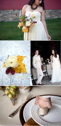 fall wedding details