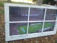 Auburn University Football Window by WindowsbyLauren on Etsy, $100.00