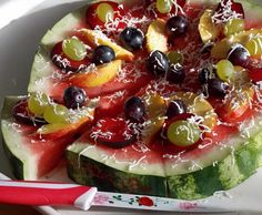Watermelon Fruit & Cheese Summer Pie Recipe »