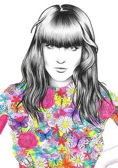 Florence Welch illustration by Sarah McKevitt