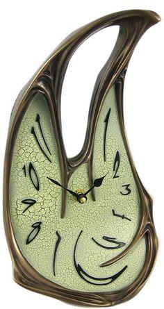 Melted Desk Clock Table Mantel Dali