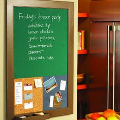 With a little creativity, turn an old artwork frame and drawer organizer into a family message center.