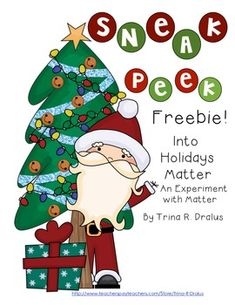 Sneak Peek Into Holidays Matter Freebie! (An Experiment with Matter) by Trina R. Dralus Free!