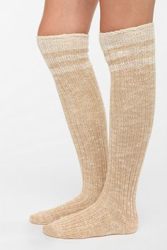 Marled Stripe Over-The-Knee Sock  #UrbanOutfitters
