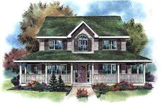 Country   Southern   House Plan 98898
