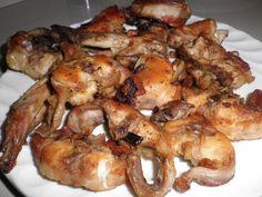 Fried Rabbit with Garlic - Fenek moqli bit-tewm - ilovefood.com.mt