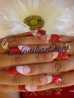 christmas acrylic nails designs - Google Search