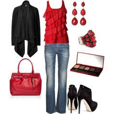 Artsy Red & Black