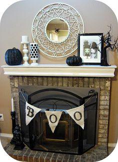cute halloween mantle idea