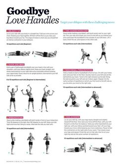 Goodbye LOVE HANDLES! Love Handle WorkOUT!