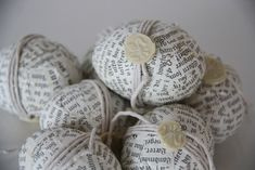 Cover your eggs with the day's headlines to make these keepsake craft.