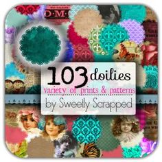 103 Doilies, Variety of Patterns and Prints FREE #Crafts #DIY