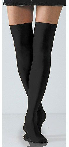 A great change of pace from pantyhose. These Opaque Thigh Highs by Foot Traffic are perfect to wear to the office or school. Well constructed of a superb Nylon and Lycra blend to assure a comfortable and durable fit. Thigh High Length. One Size. Cold water wash. Imported. Fabric: 90% Nylon, 10% Spandex http://www.amazon.com/dp/B001JPXTNA/?tag=icypnt-20