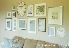 gallery wall photo display