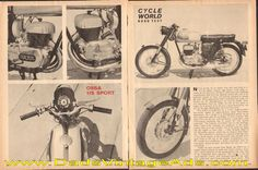 1965 Ossa 175 Sport Road Test / Specs