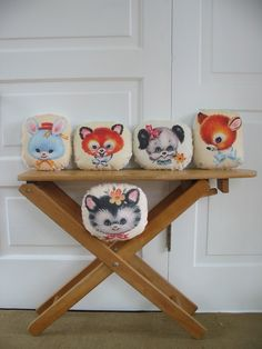 Animal Pillows #Nursery #Decor #Baby | vintagejane via Etsy