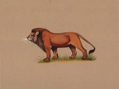 Indian Lion Painting