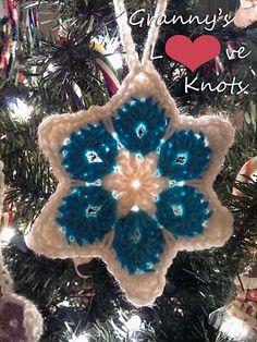 Ravelry: 6 Point Star pattern by Pam Stinnett pam stinnett, point star, star ornament, free pattern, star pattern, free ravelri, crochet patterns, christma, blues