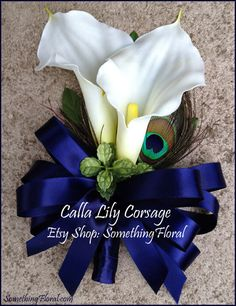 Would do something like this for the boutonnière, but also just thinking about only calla lilies for the men.